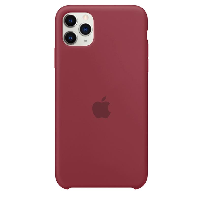 Case Capinha Vermelho Borgonha para iPhone 11 Pro de Silicone
