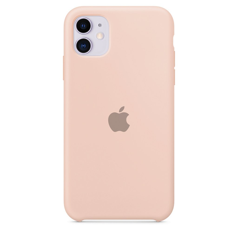 Case Capinha de Silicone Rosa Areia para iPhone 11