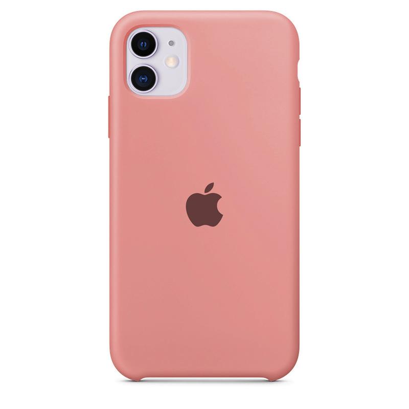 Case Capinha de Silicone Rosa Chiclete para iPhone 11