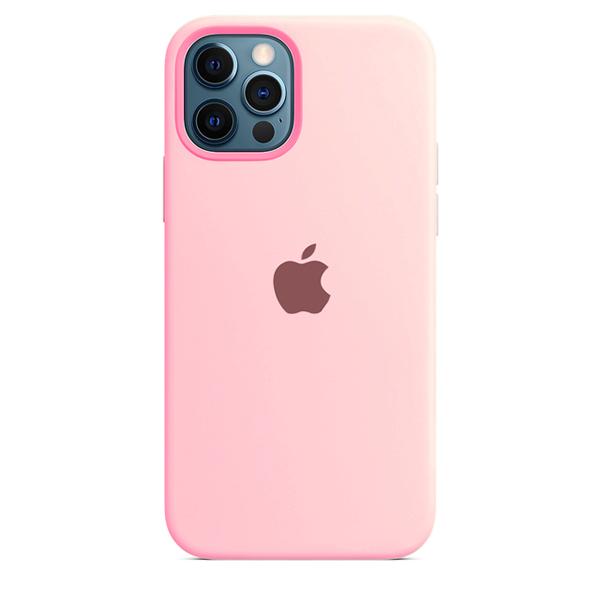 Case Capinha de Silicone Rosa Claro para iPhone 12 e 12 Pro