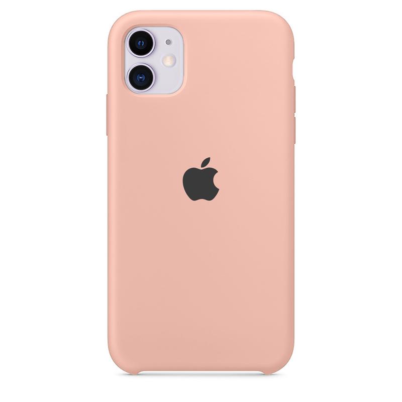 Case Capinha de Silicone Rosa Creme para iPhone 11