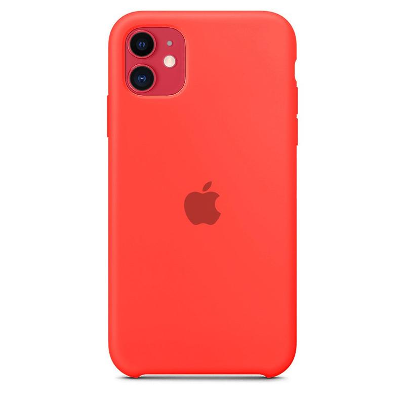 Case Capinha de Silicone Rosa Neon para iPhone 11