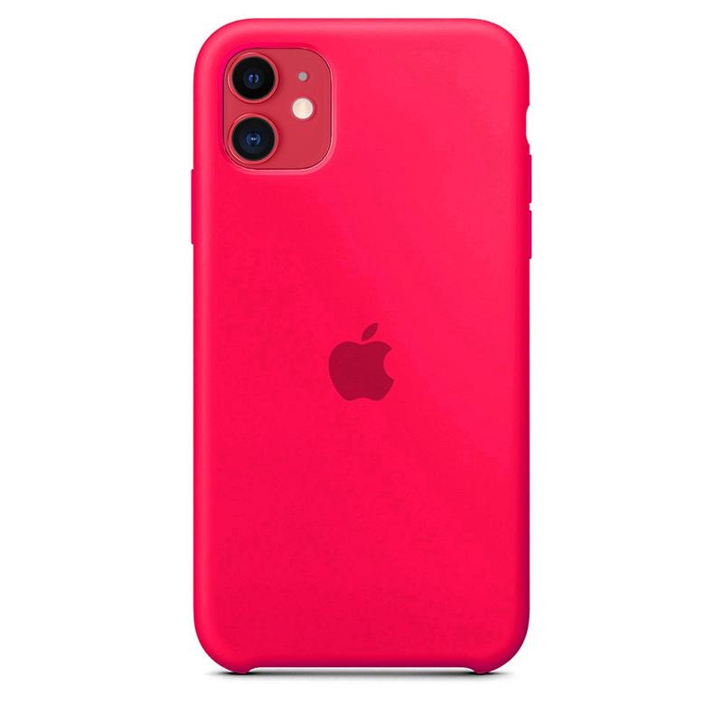Case Capinha de Silicone Rosa Pink para iPhone 11
