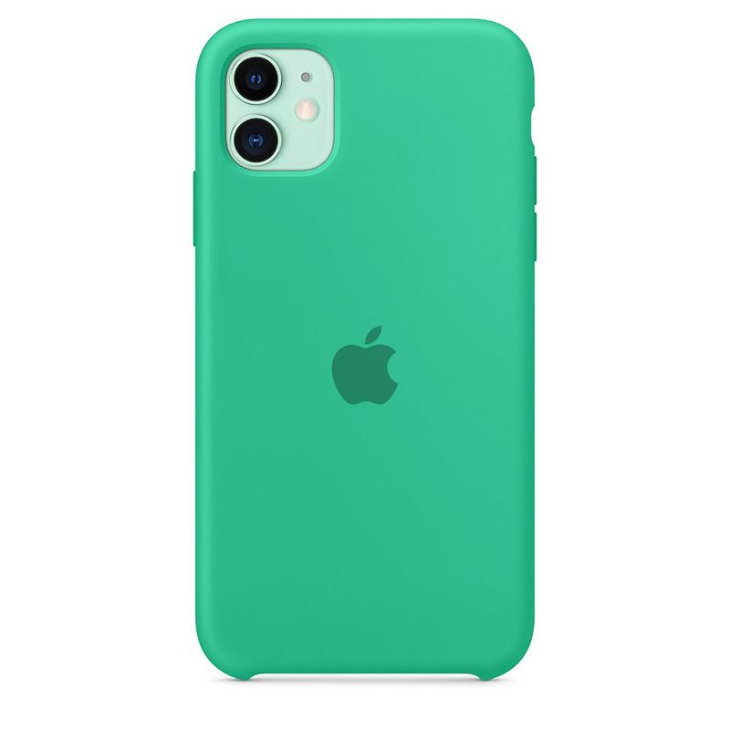 Case Capinha de Silicone Verde Água para iPhone 11