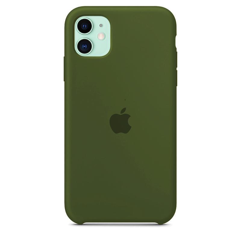 Case Capinha de Silicone Verde Militar para iPhone 11
