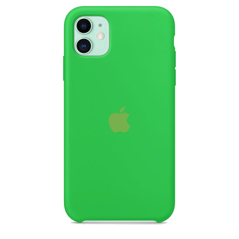 Case Capinha de Silicone Verde Neon para iPhone 11