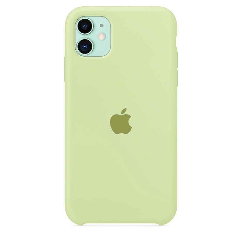 Case Capinha de Silicone Verde Pistache para iPhone 11