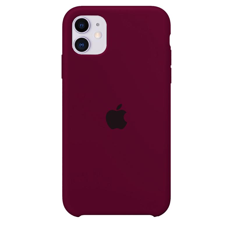 Case Capinha de Silicone Vermelho Bordô para iPhone 11