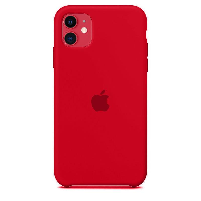 Case Capinha de Silicone Vermelha para iPhone 11