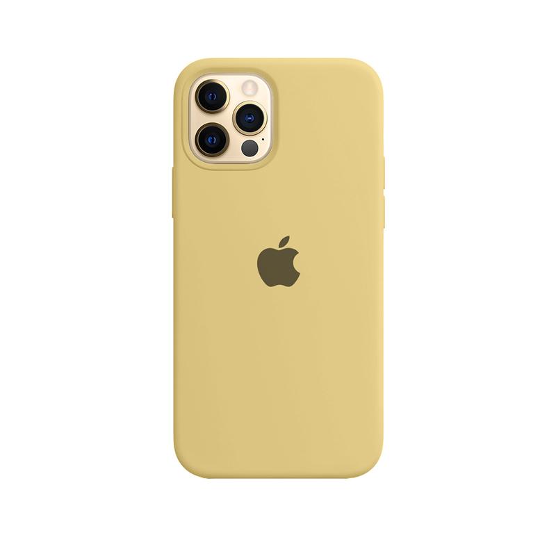 Case Capinha de Silicone Amarela para iPhone 12 e 12 Pro