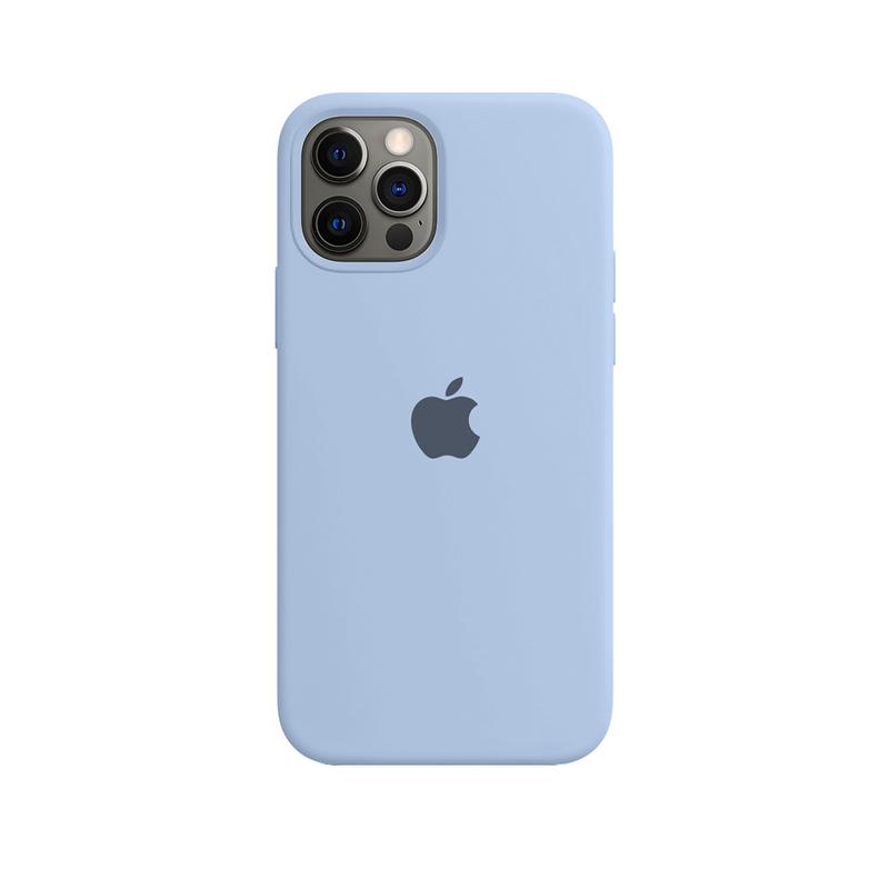 Case Capinha de Silicone Azul Bebê para iPhone 12 e 12 Pro
