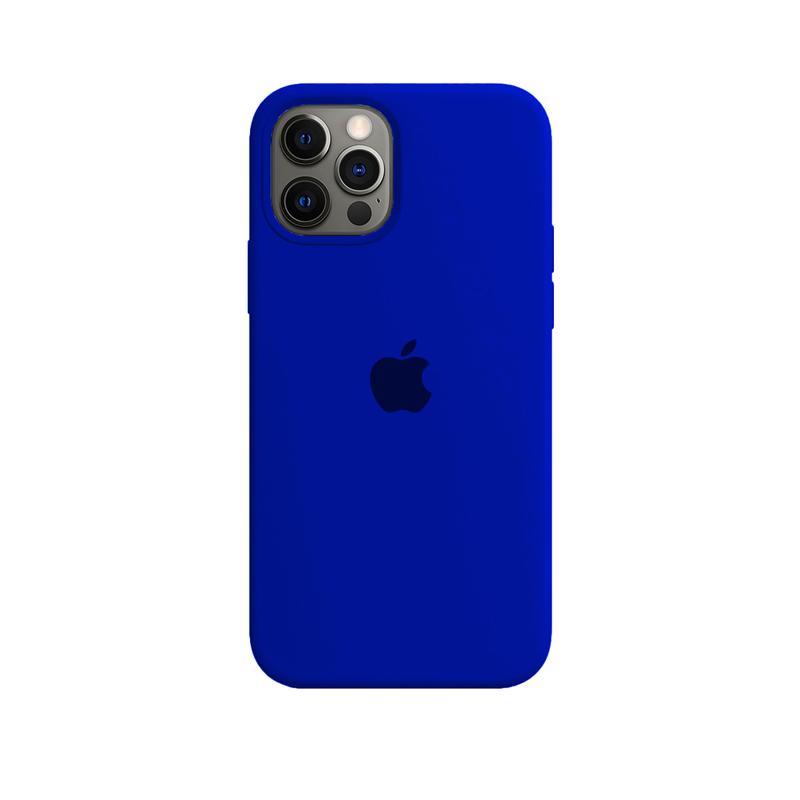 Case Capinha de Silicone Azul Caneta para iPhone 12 e 12 Pro