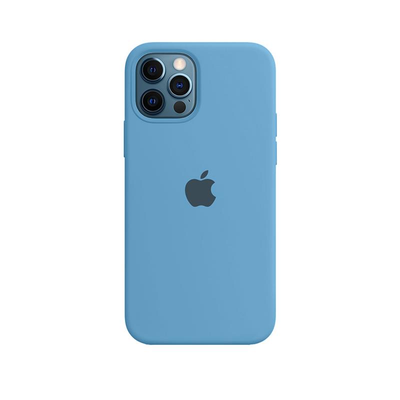 Case Capinha de Silicone Azul Caribe para iPhone 12 e 12 Pro