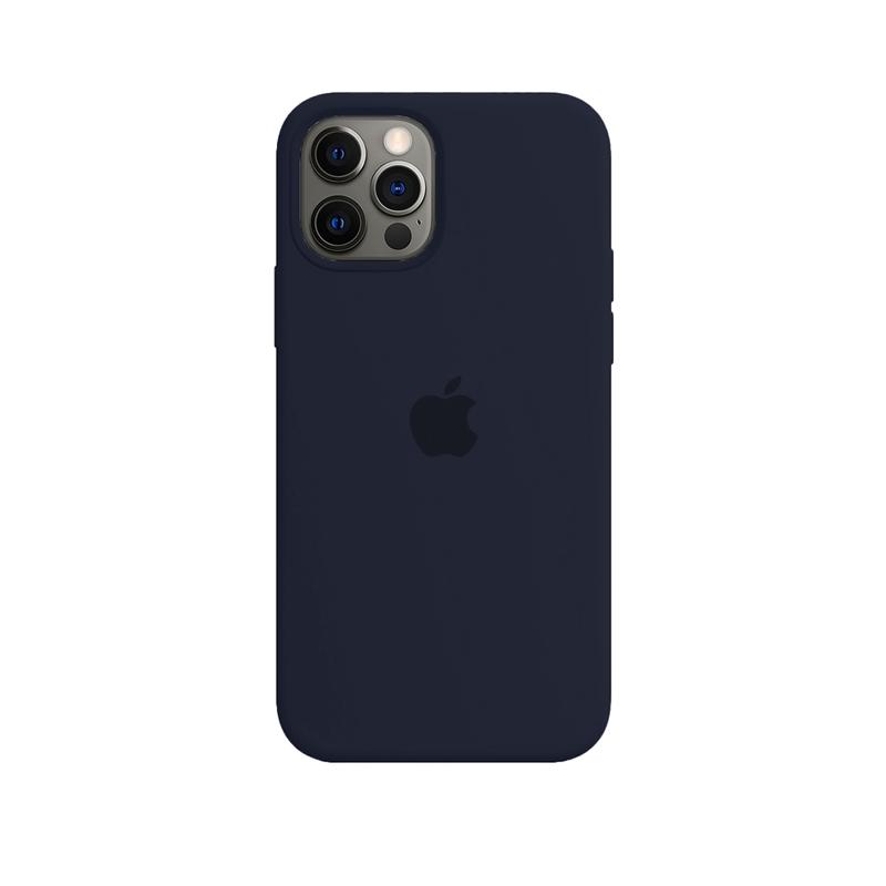 Case Capinha de Silicone Azul Cobalto para iPhone 12 e 12 Pro