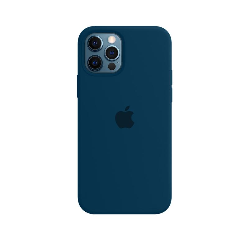 Case Capinha de Silicone Azul Horizonte para iPhone 12 e 12 Pro