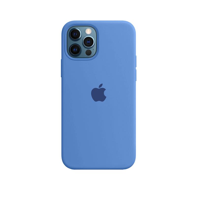 Case Capinha de Silicone Azul Royal para iPhone 12 e 12 Pro
