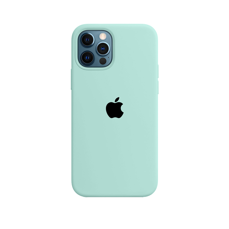 Case Capinha de Silicone Azul Tiffany para iPhone 12 e 12 Pro