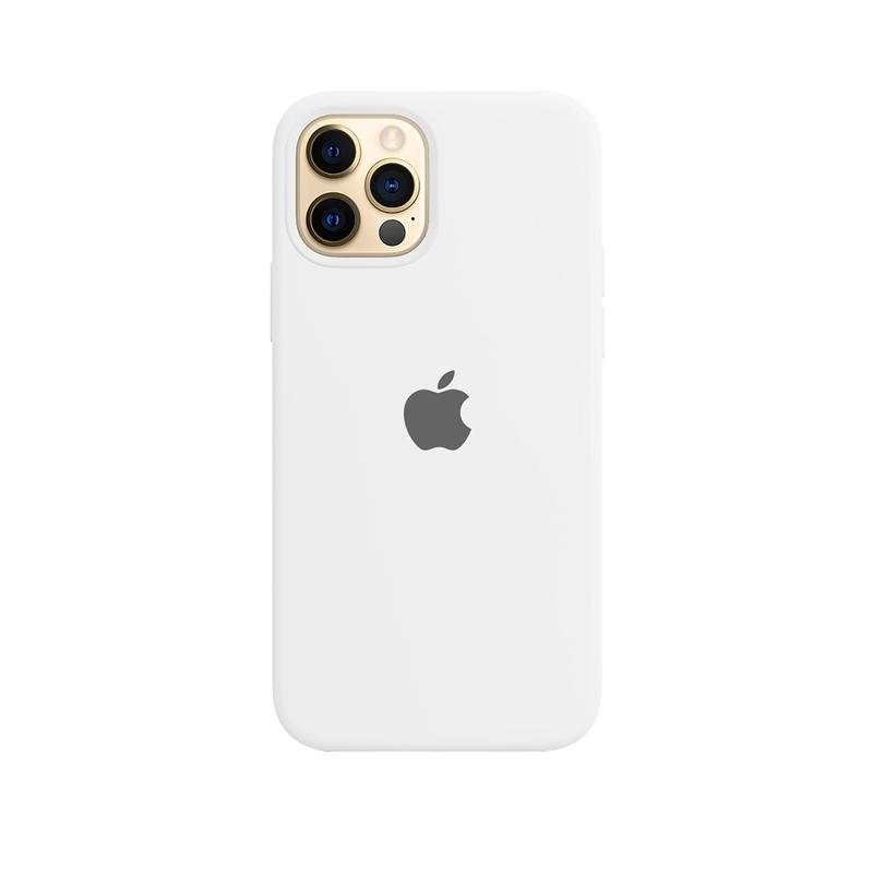 Case Capinha de Silicone Branca para iPhone 12 e 12 Pro