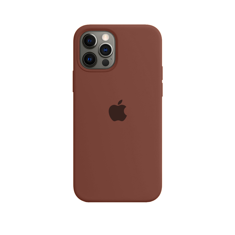 Case Capinha de Silicone Chocolate para iPhone 12 e 12 Pro