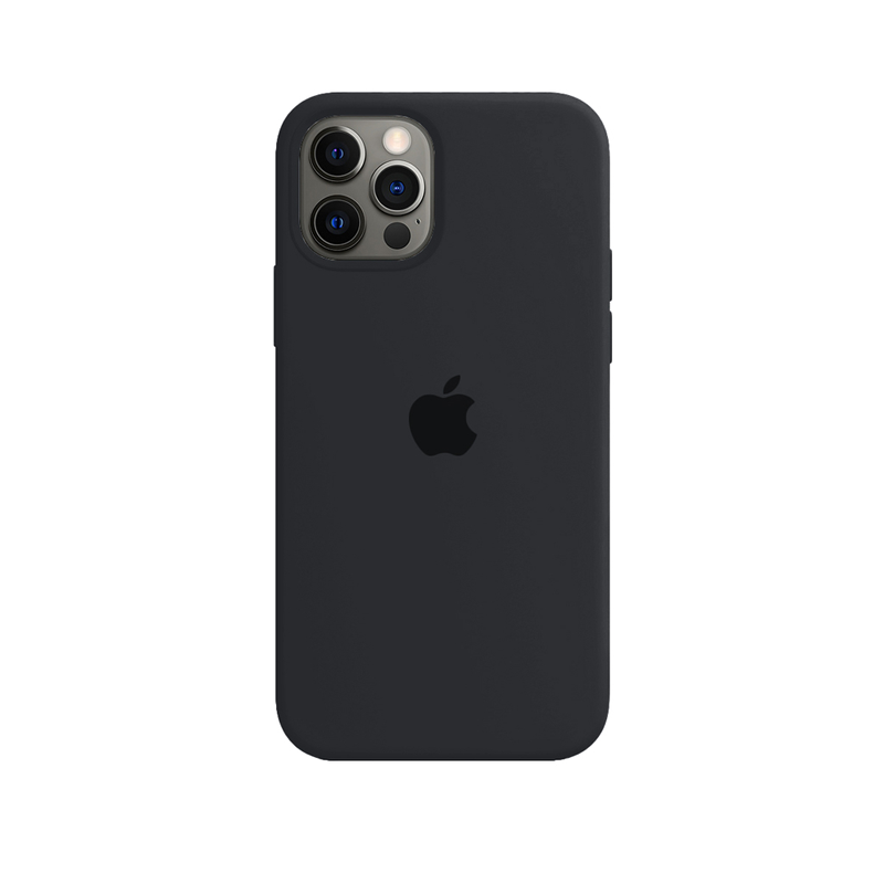 Case Capinha de Silicone Cinza Dark para iPhone 12 e 12 Pro