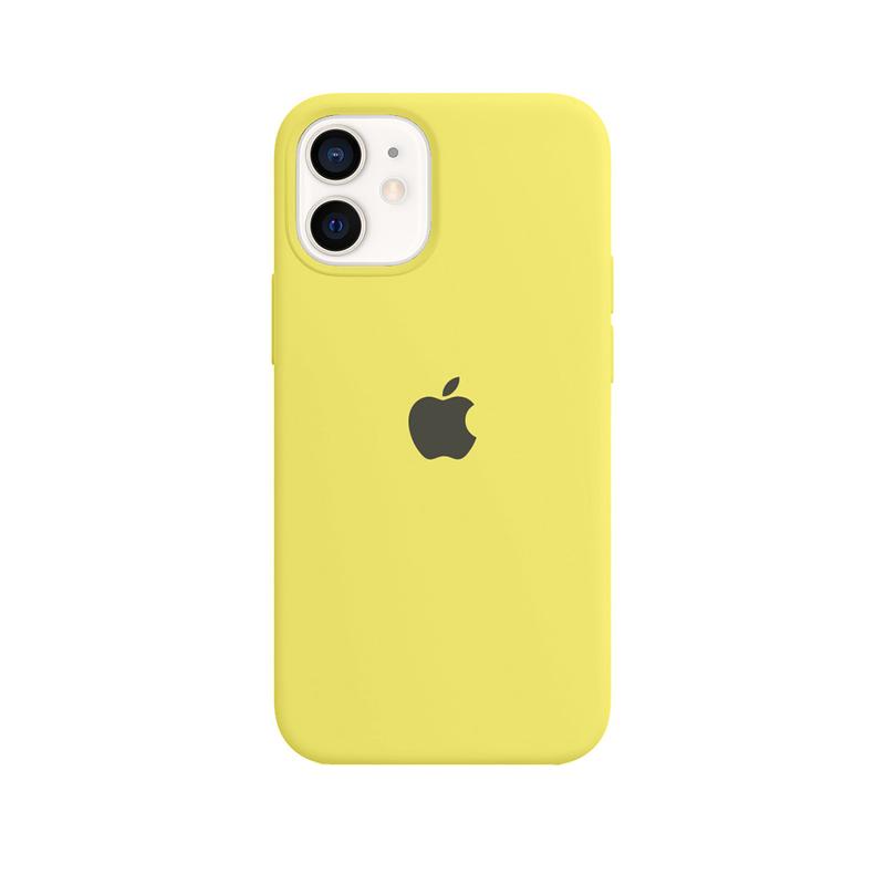 Case Capinha Amarelo Limão para iPhone 12 Mini de Silicone