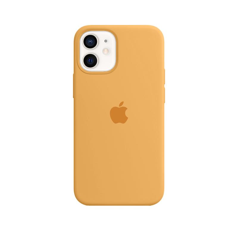 Case Capinha Amarelo Mostarda para iPhone 12 Mini de Silicone