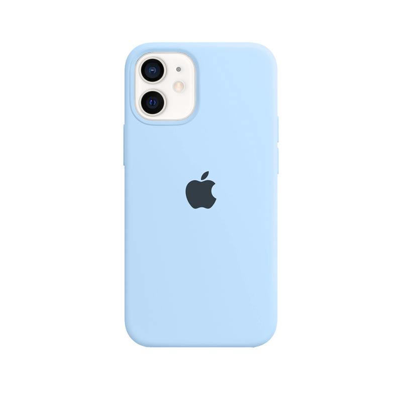 Case Capinha Azul Claro para iPhone 12 Mini de Silicone