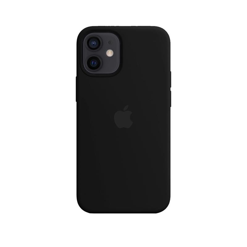 Case Capinha Preta para iPhone 12 Mini de Silicone
