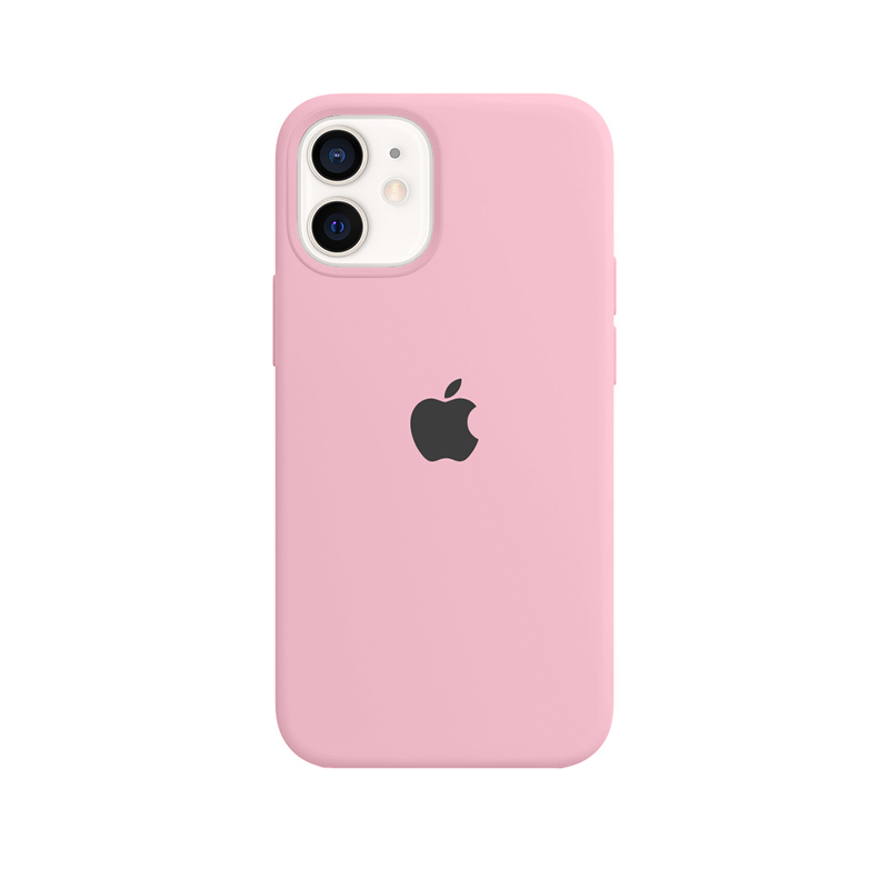 Case Capinha Rosa Chiclete para iPhone 12 Mini de Silicone