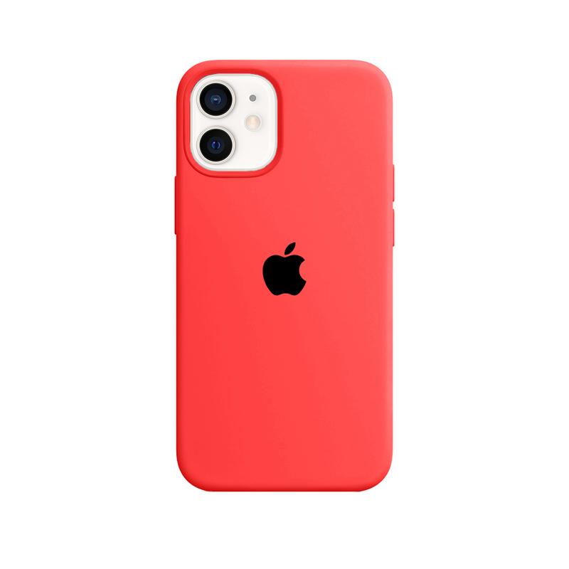 Case Capinha Rosa Neon para iPhone 12 Mini de Silicone