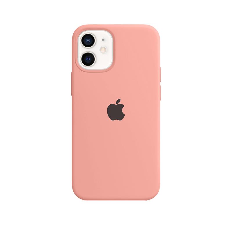 Case Capinha Rosa Pêssego para iPhone 12 Mini de Silicone