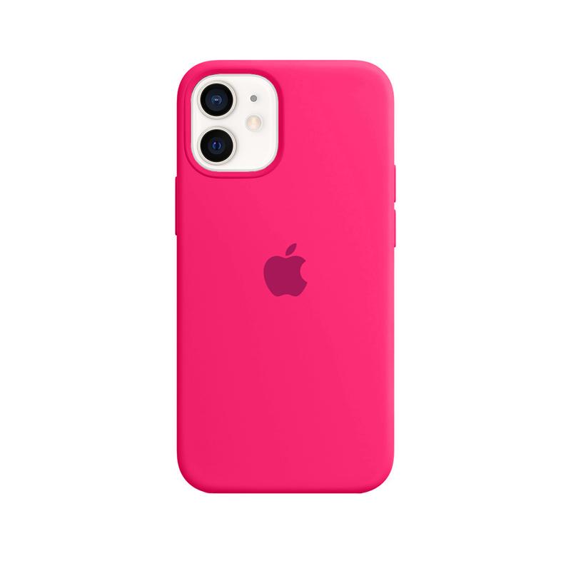 Case Capinha Rosa Pink para iPhone 12 Mini de Silicone