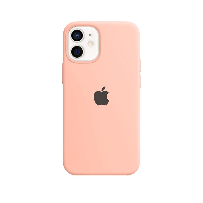 Case Capinha Rosa para iPhone 12 Mini de Silicone
