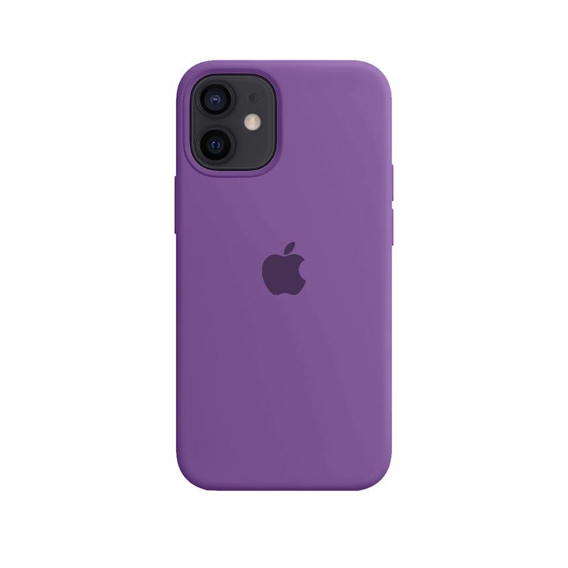 Case Capinha Roxa para iPhone 12 Mini de Silicone
