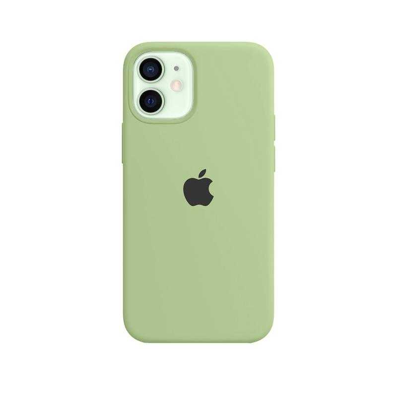 Case Capinha Verde Menta para iPhone 12 Mini de Silicone