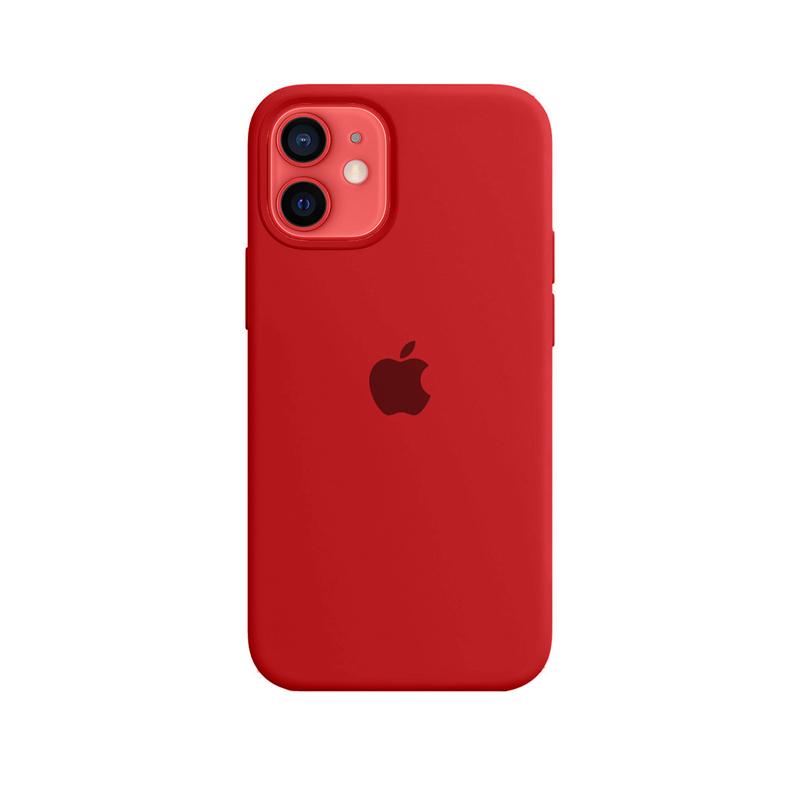Case Capinha Vermelha para iPhone 12 Mini de Silicone