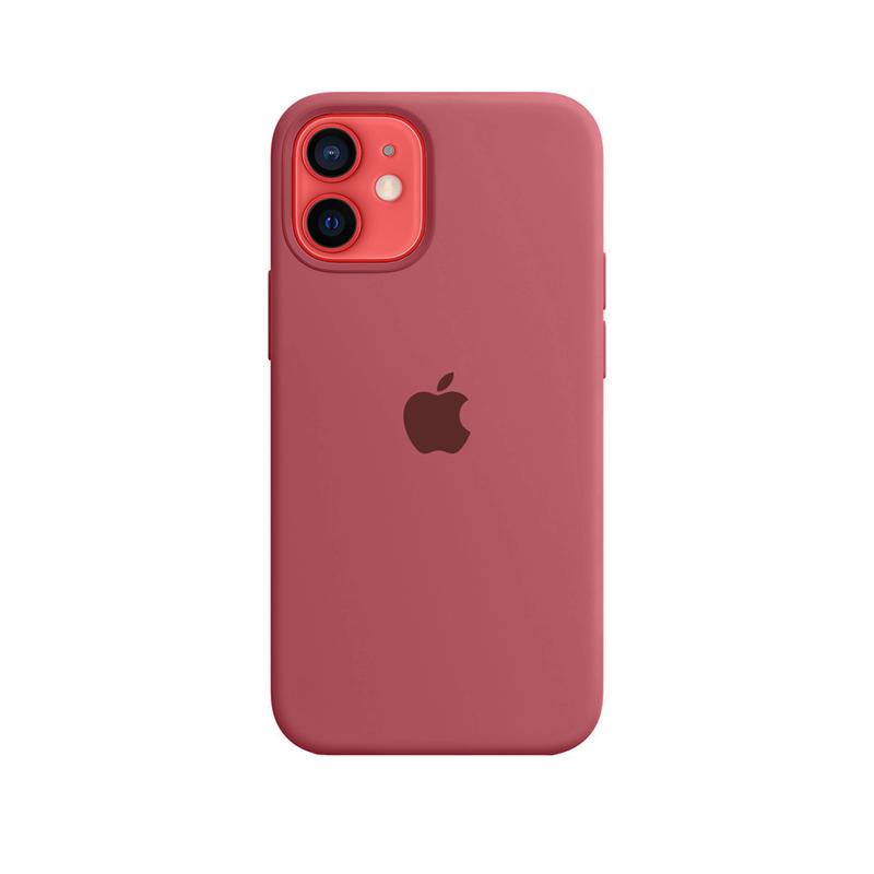 Case Capinha Vermelho Fosco para iPhone 12 Mini de Silicone