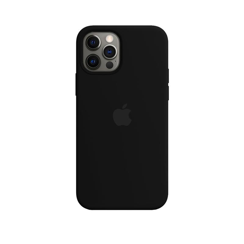 Case Capinha de Silicone Preta para iPhone 12 e 12 Pro
