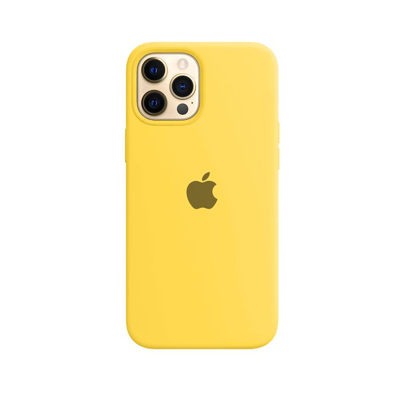 Case Capinha Amarela para iPhone 12 Pro Max de Silicone