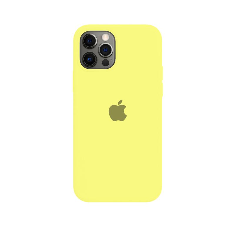 Case Capinha Amarelo Limão para iPhone 12 Pro Max de Silicone