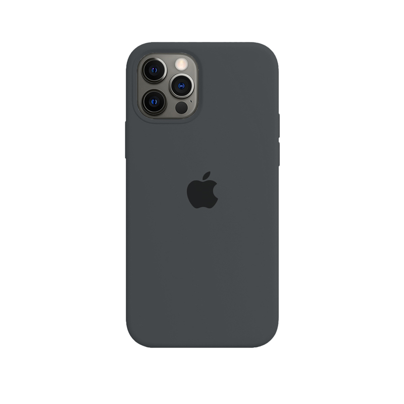 Case Capinha Cinza Escuro para iPhone 12 Pro Max de Silicone