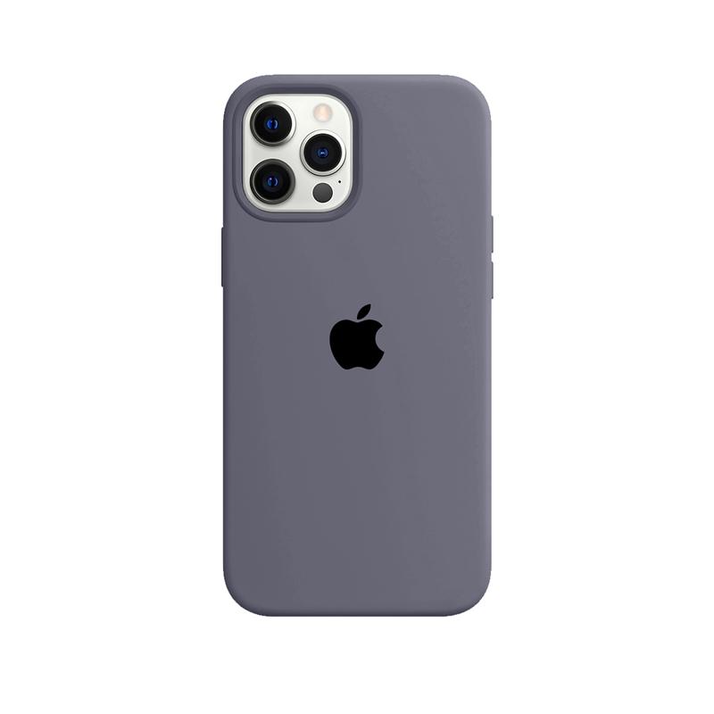 Case Capinha Cinza Lavanda para iPhone 12 Pro Max de Silicone