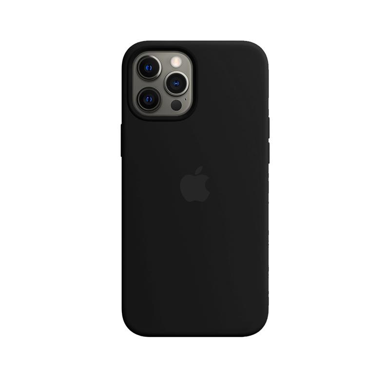Case Capinha Preta para iPhone 12 Pro Max de Silicone