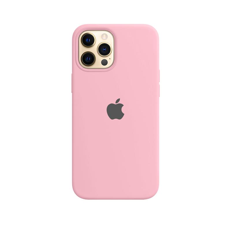 Case Capinha Rosa Chiclete para iPhone 12 Pro Max de Silicone