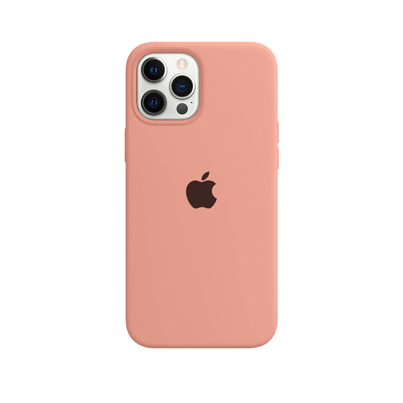 Case Capinha Rosa Pêssego para iPhone 12 Pro Max de Silicone