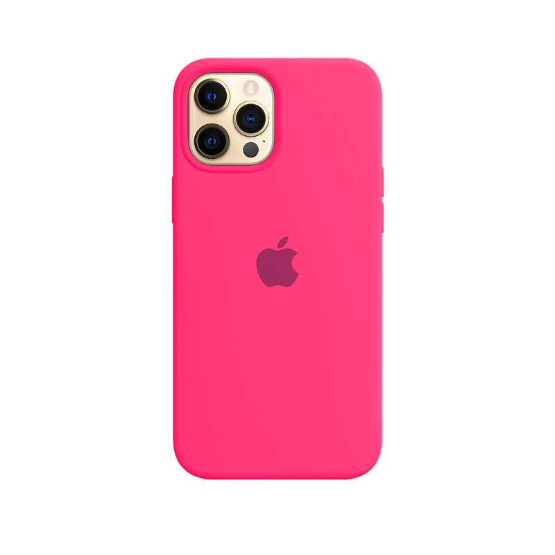 Case Capinha Rosa Pink para iPhone 12 Pro Max de Silicone