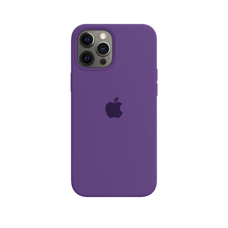 Case Capinha Roxa para iPhone 12 Pro Max de Silicone