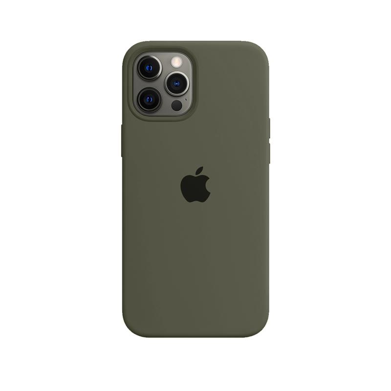 Case Capinha Verde Militar para iPhone 12 Pro Max de Silicone