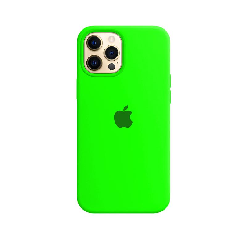 Case Capinha Verde Neon para iPhone 12 Pro Max de Silicone