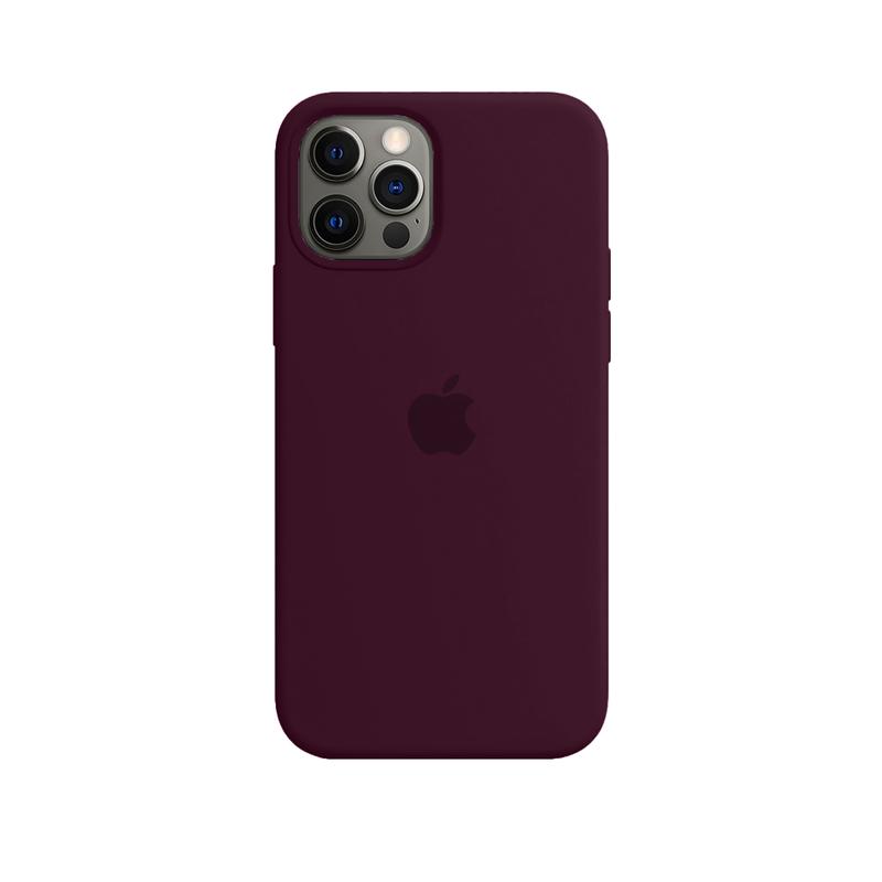 Case Capinha Vermelho Bordô para iPhone 12 Pro Max de Silicone